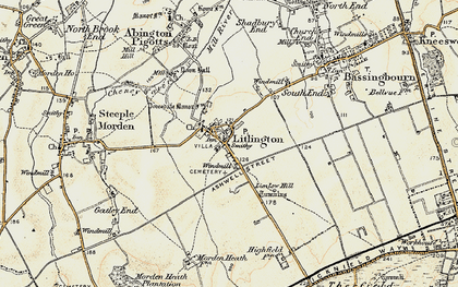 Old map of Limlow Hill in 1898-1901