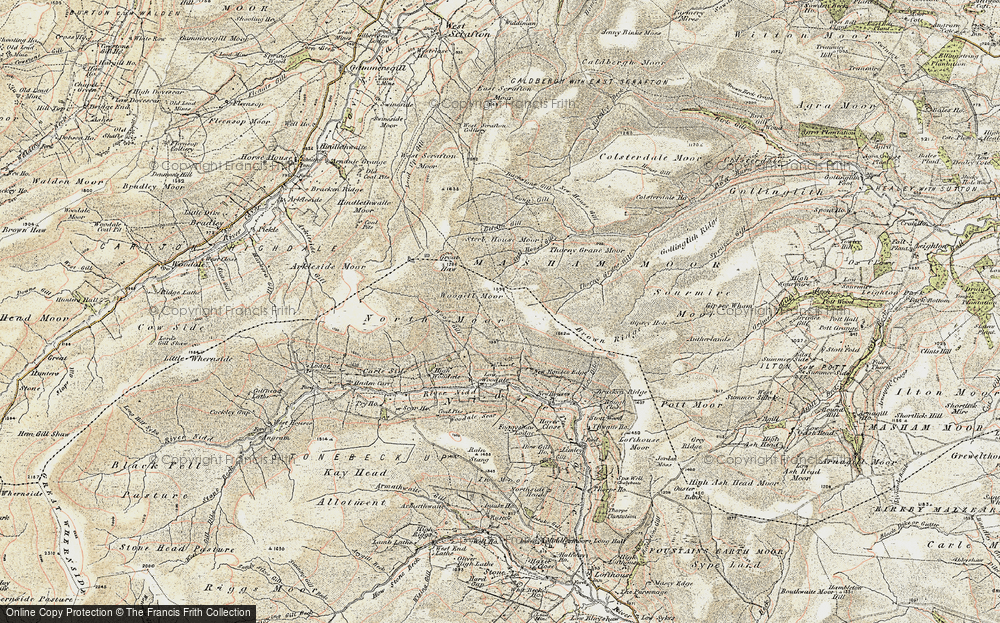Old Map of Historic Map covering Woo Gill in 1903-1904