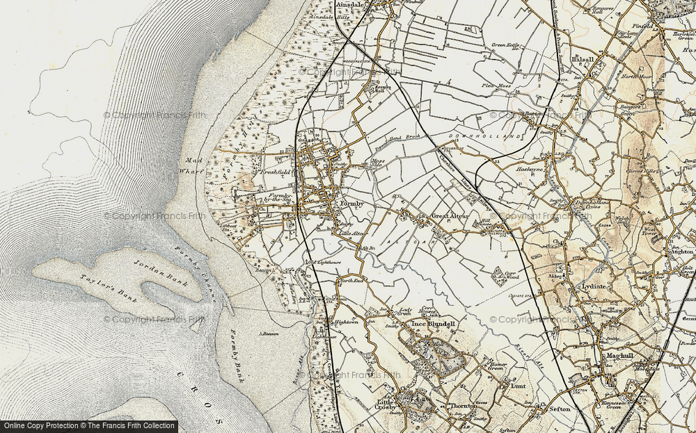 Old Map of Historic Map covering Alt Bridge in 1902-1903