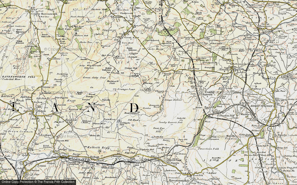 Old Map of Historic Map covering Asby Grange in 1903-1904