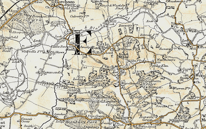 Old map of Little Baddow in 1898