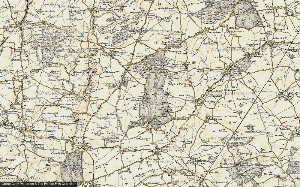 Old Map of Historic Map covering American Barn in 1898-1899