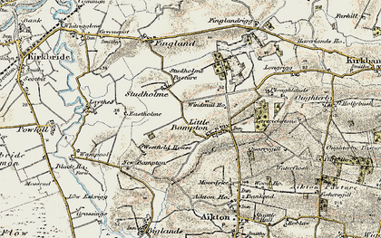 Old map of Bampton Beck in 1901-1904