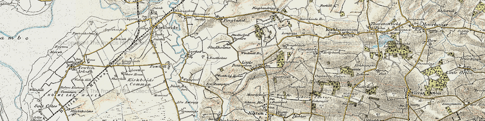 Old map of Windmill Ho in 1901-1904