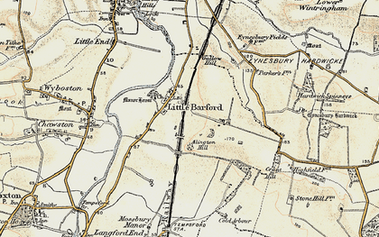Old map of Alington Hill in 1898-1901