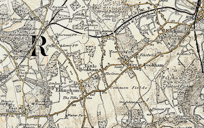 Old map of Little Bookham in 1897-1909
