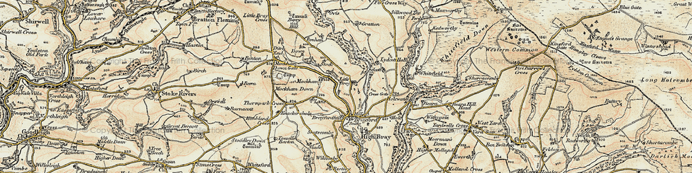 Old map of Wort Wood in 1900