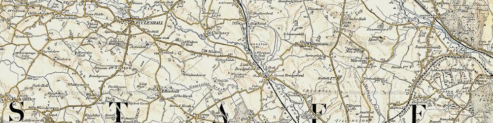 Old map of Whitehart Covert in 1902
