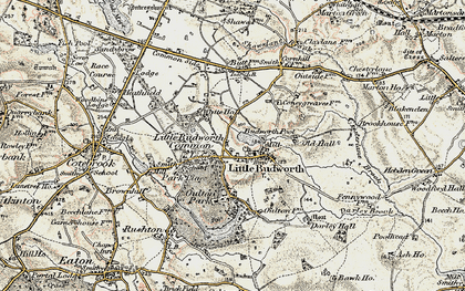 Old map of Little Budworth in 1902-1903