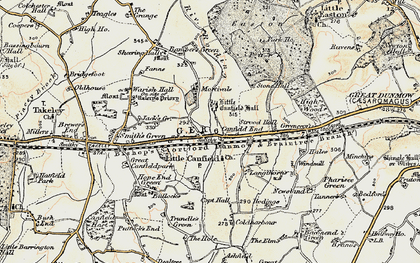 Old map of Langthorns in 1898-1899