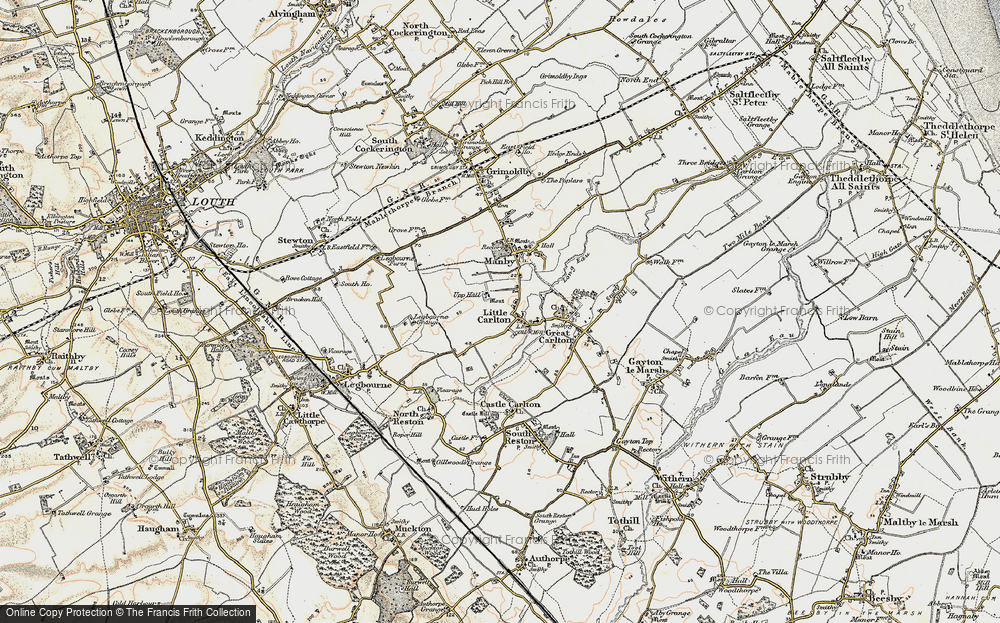 Old Map of Historic Map covering Legbourne Grange in 1902-1903