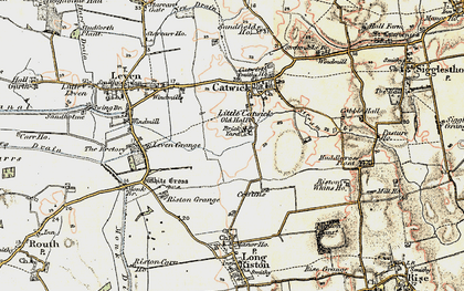 Old map of Riston Grange in 1903-1908