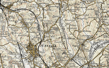 Old map of Whitfield in 1902