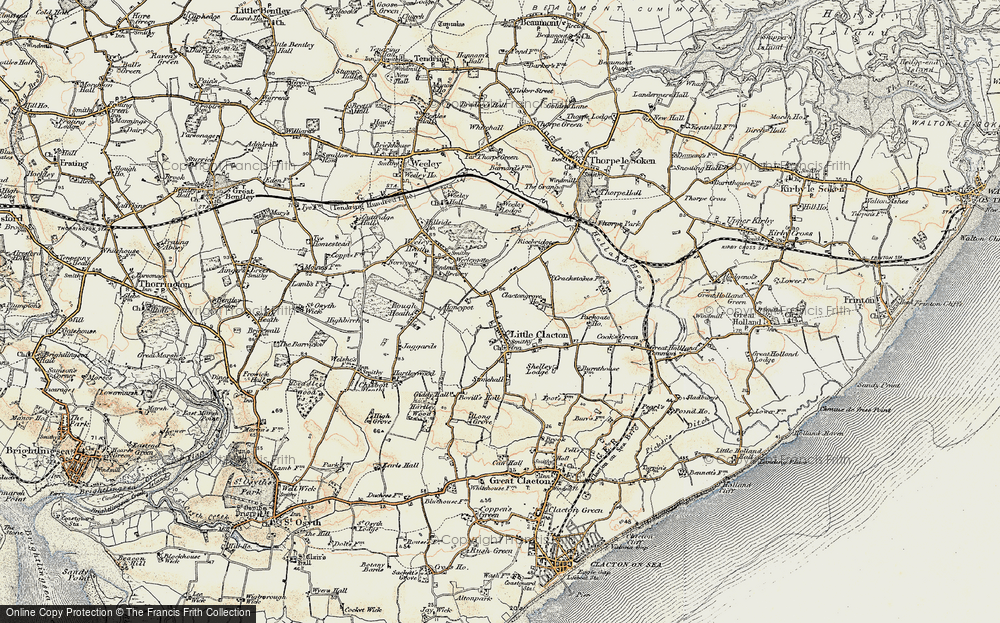 Old Map of Historic Map covering Woodlands in 0-1899