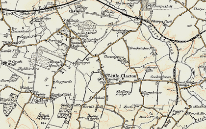 Old map of Woodlands in 0-1899