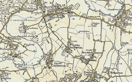 Old map of Little Comberton in 1899-1901