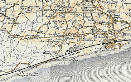 Old map of Little Common in 1898
