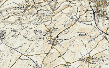 Old map of White Hill Lodge in 1901-1902