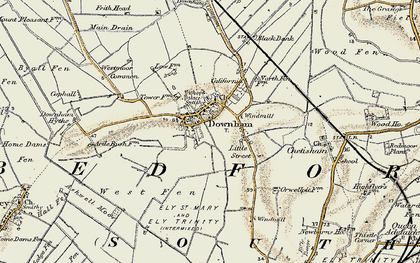 Old map of Westmoor Common in 1901
