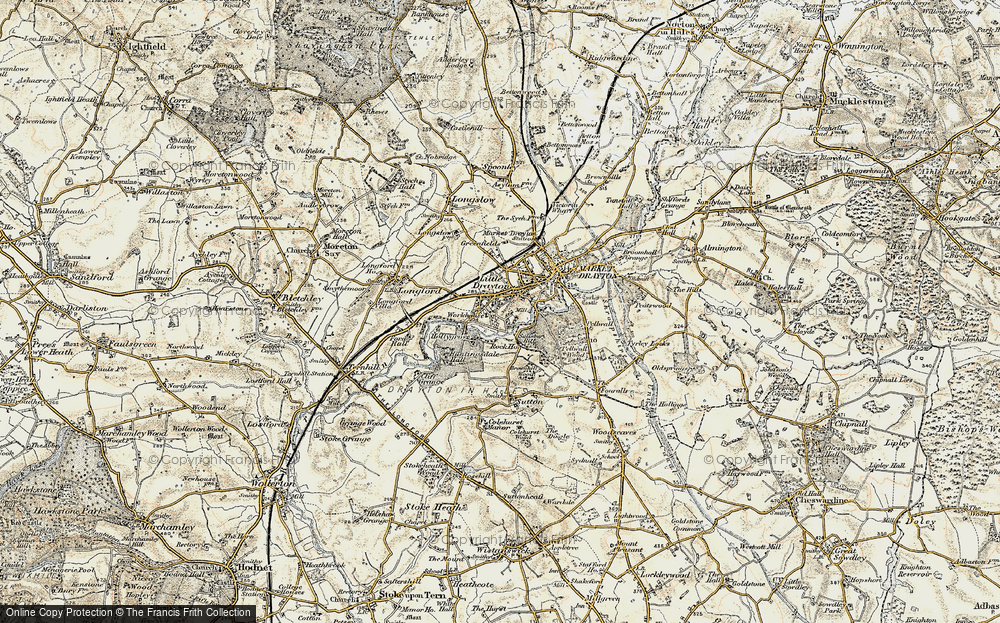 Old Map of Historic Map covering Pell Wall in 1902