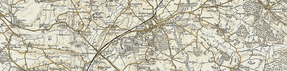 Old map of Pell Wall in 1902