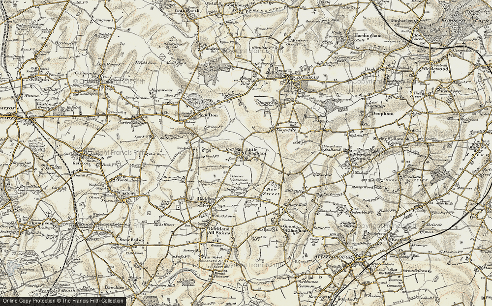 Old Map of Historic Map covering Lingwhite in 1901-1902