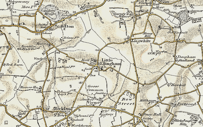 Old map of Lingwhite in 1901-1902