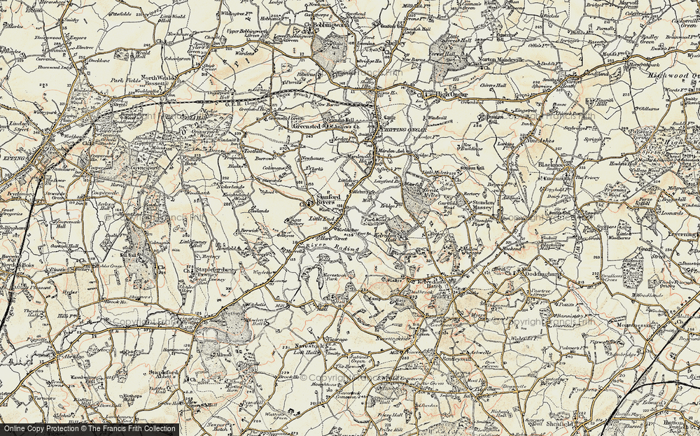 Old Map of Historic Map covering Aspen Wood in 1898