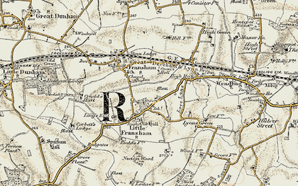 Old map of Ling's End in 1901-1902