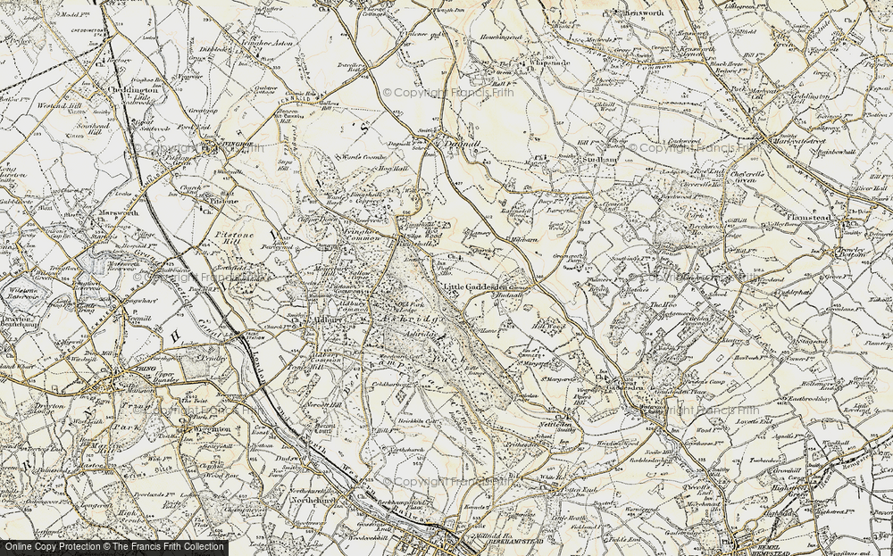 Old Map of Historic Map covering Ashridge (Coll) in 1898