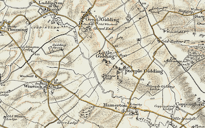 Old map of Alconbury Brook in 1901