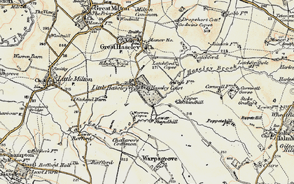 Old map of Little Haseley in 1897-1899