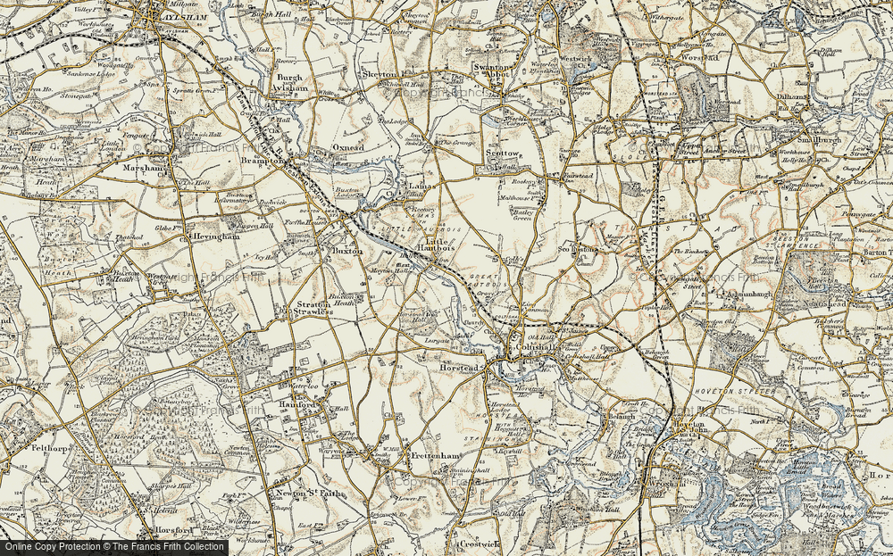 Old Map of Historic Map covering Largate in 1901-1902