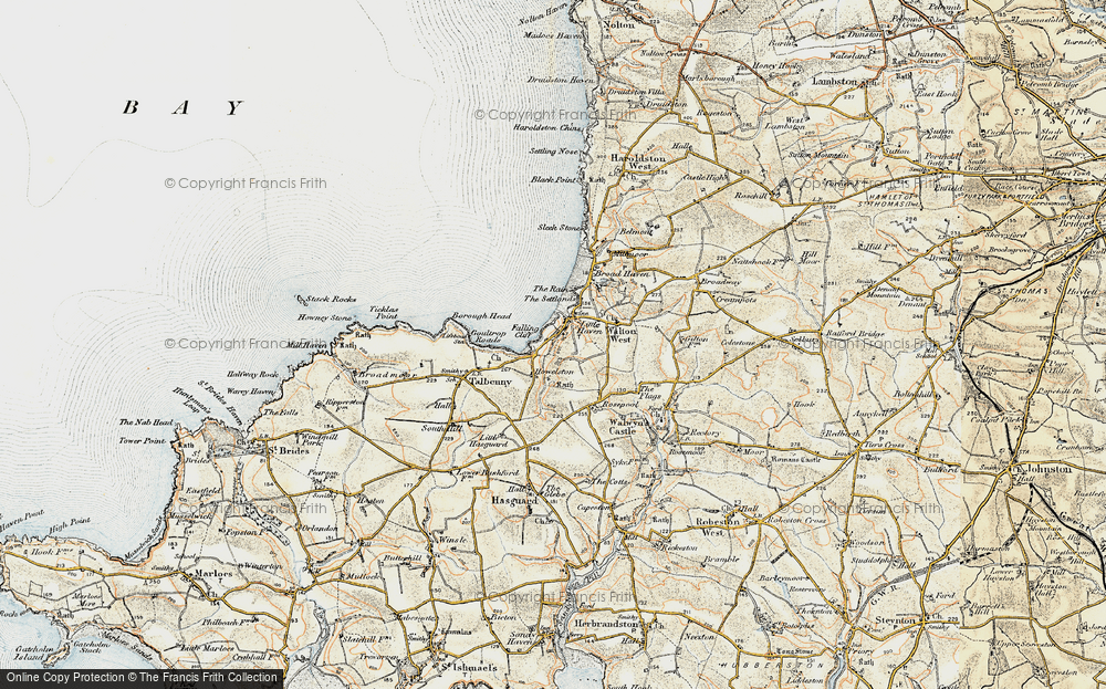 Old Map of Historic Map covering Woodlands in 0-1912