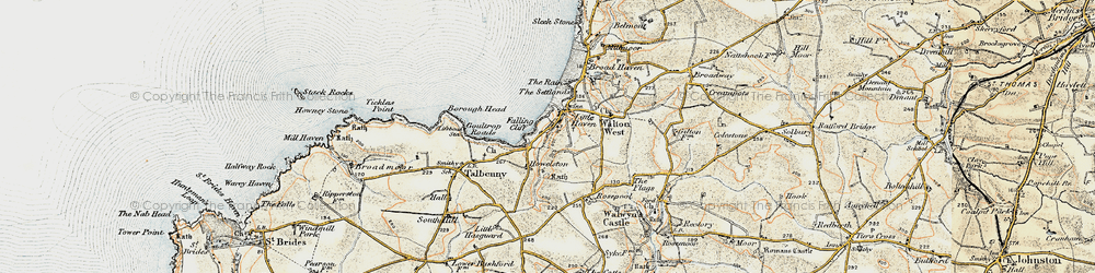 Old map of Little Haven in 0-1912