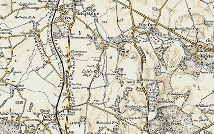 Old map of Moneymore in 1901-1902