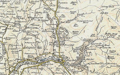 Old map of Little Hayfield in 1903