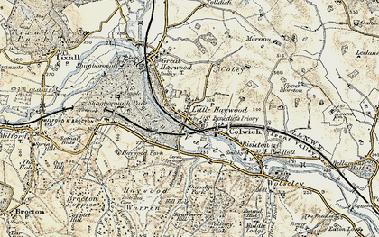 Old map of Little Haywood in 1902