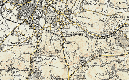 Old map of Wistley Hill in 1898-1900