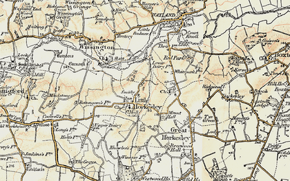 Old map of Wissington in 1898-1899