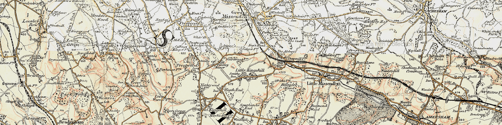 Old map of Little Kingshill in 1897-1898