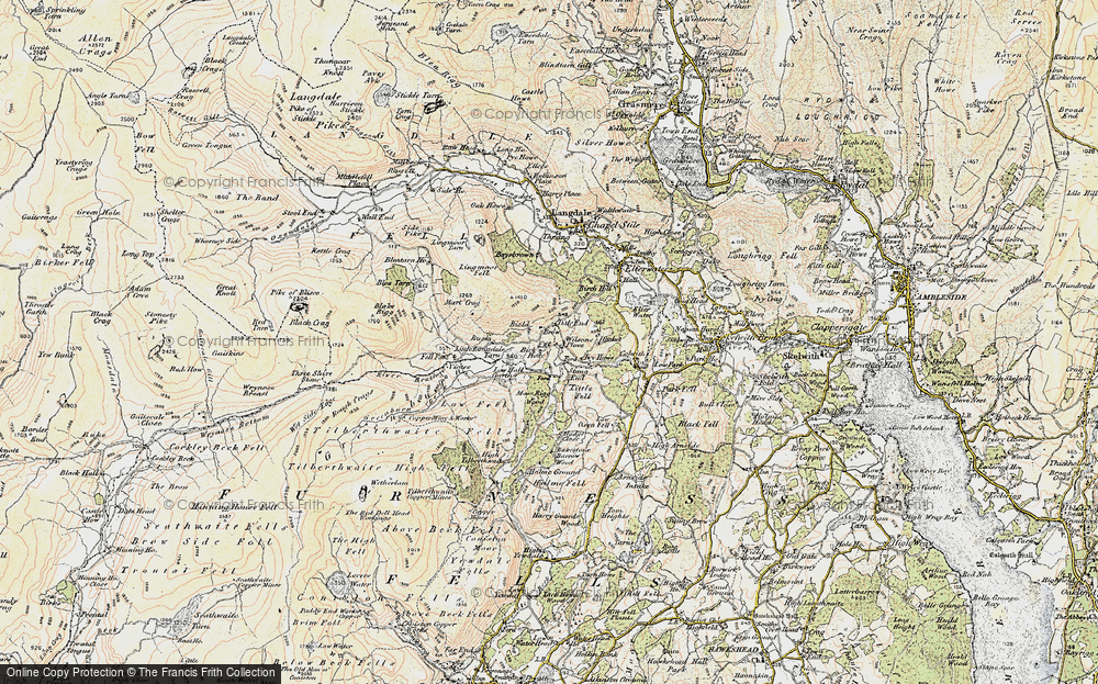 Old Map of Little Langdale, 1903-1904 in 1903-1904