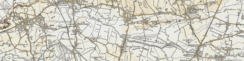 Old map of Wet Moor in 1898-1900