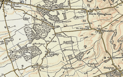 Old map of Willingham Woods in 1903