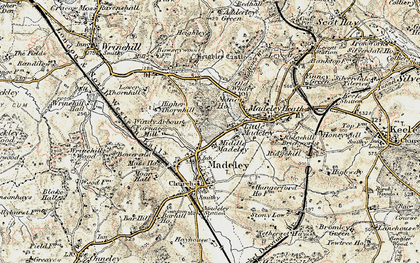 Old map of Windy Arbour in 1902