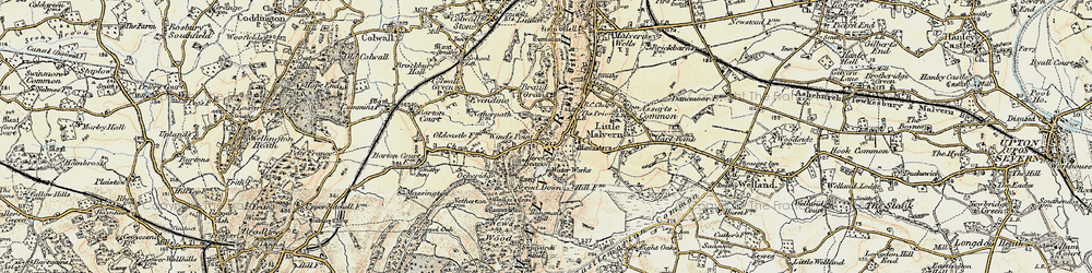 Old map of Little Malvern in 1899-1901