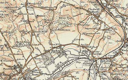 Old map of Little Marlow in 1897-1898