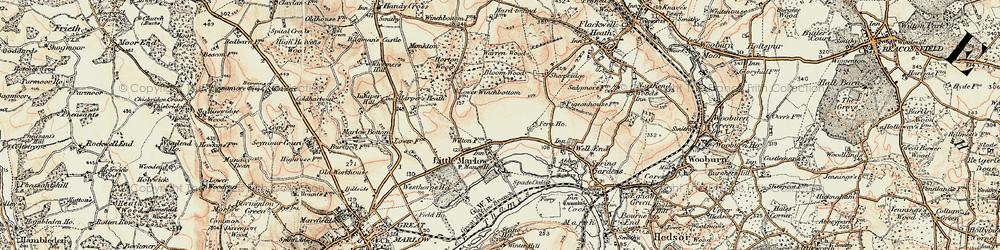 Old map of Westhorpe Ho in 1897-1898