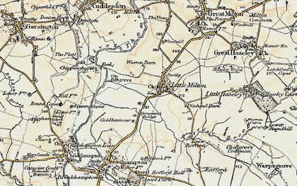 Old map of Little Milton in 1897-1899