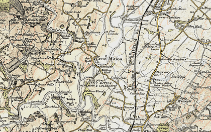 Old map of Little Mitton in 1903-1904